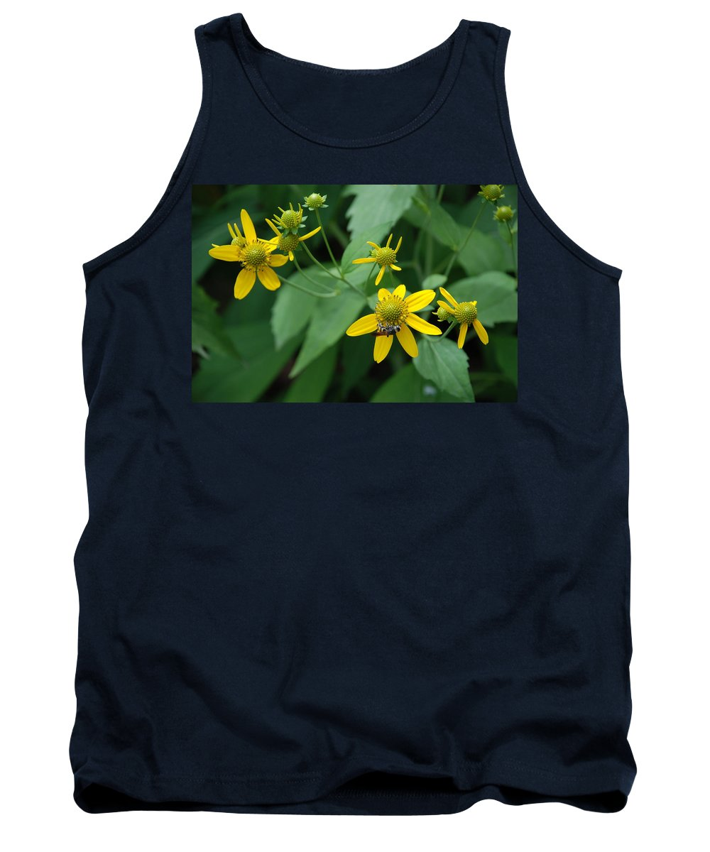 Macro Tank Top featuring the photograph Bee On A Flower by Rob Hans