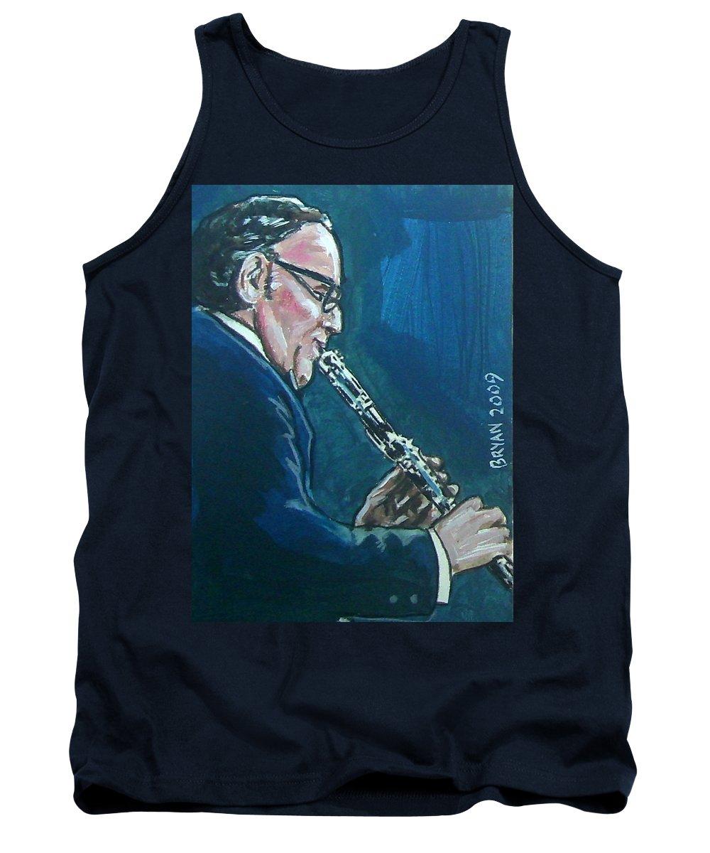 Benny Goodman Tank Top featuring the painting Benny Goodman by Bryan Bustard