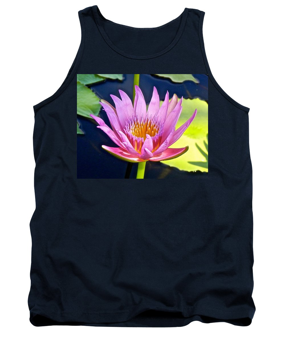 Lotus Tank Top featuring the photograph Beyond Beautiful Water Lily by Joe Wyman