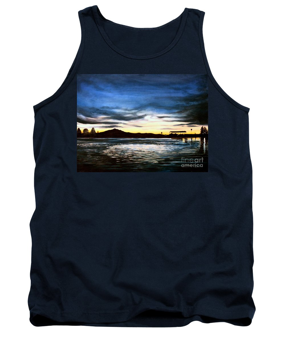Landscape Tank Top featuring the painting Blue Diablo by Elizabeth Robinette Tyndall