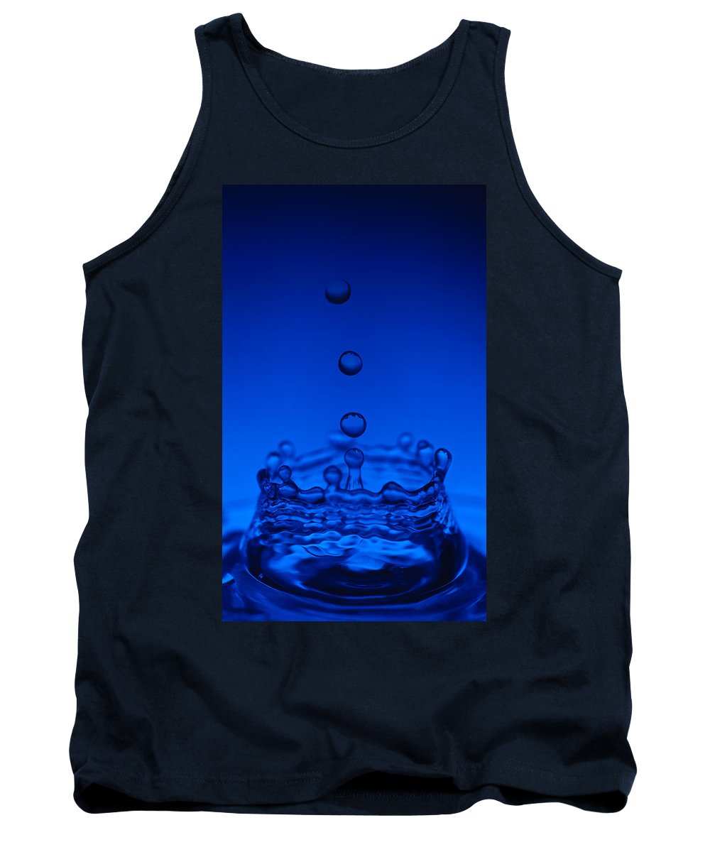Water Tank Top featuring the photograph Blue Drop by Steve Gadomski