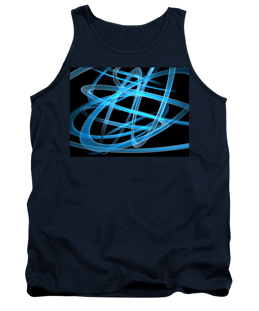 Scott Piers Tank Top featuring the painting Blue Light by Scott Piers