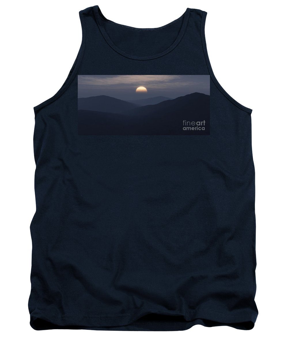 Mountains Tank Top featuring the digital art Blue Mountains by Richard Rizzo
