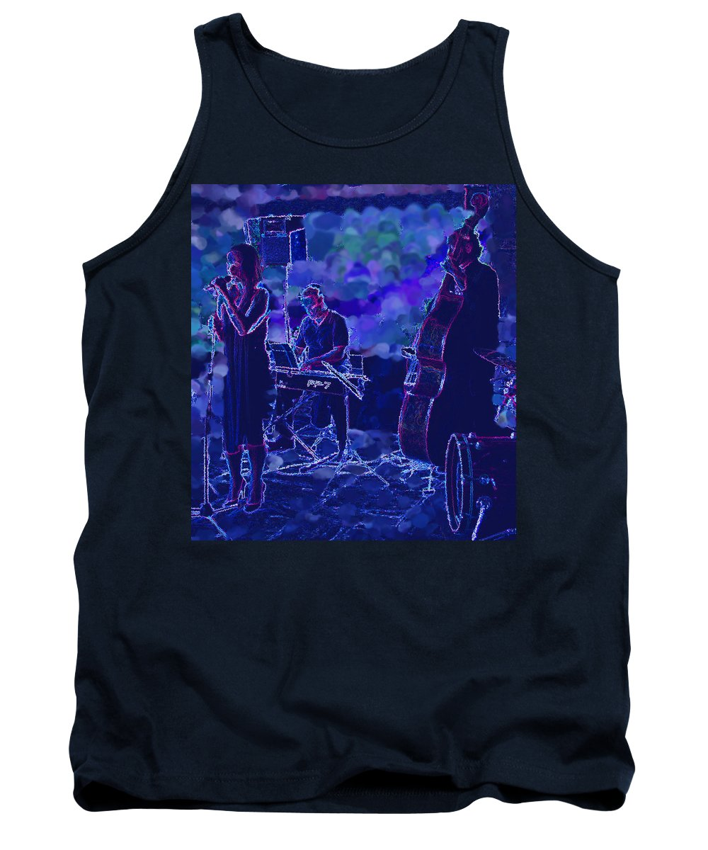 Music Tank Top featuring the photograph Blues by Ian MacDonald