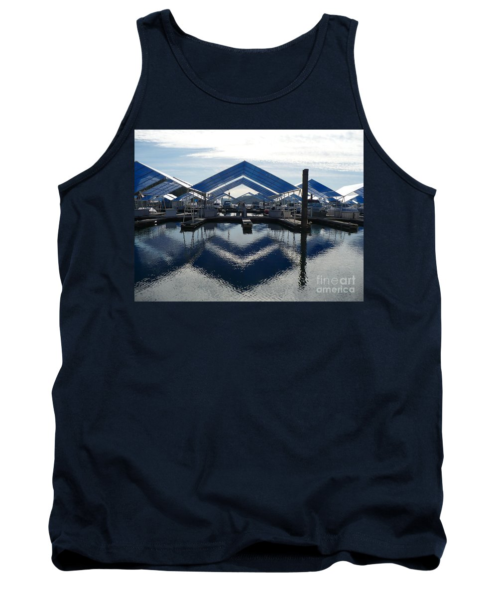 Boats Tank Top featuring the photograph Boat Reflection On Lake Coeur D'alene by Carol Groenen