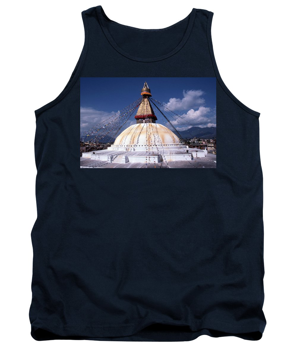 Bodhnath Stupa Tank Top featuring the photograph Bodhnath Stupa by Patrick Klauss