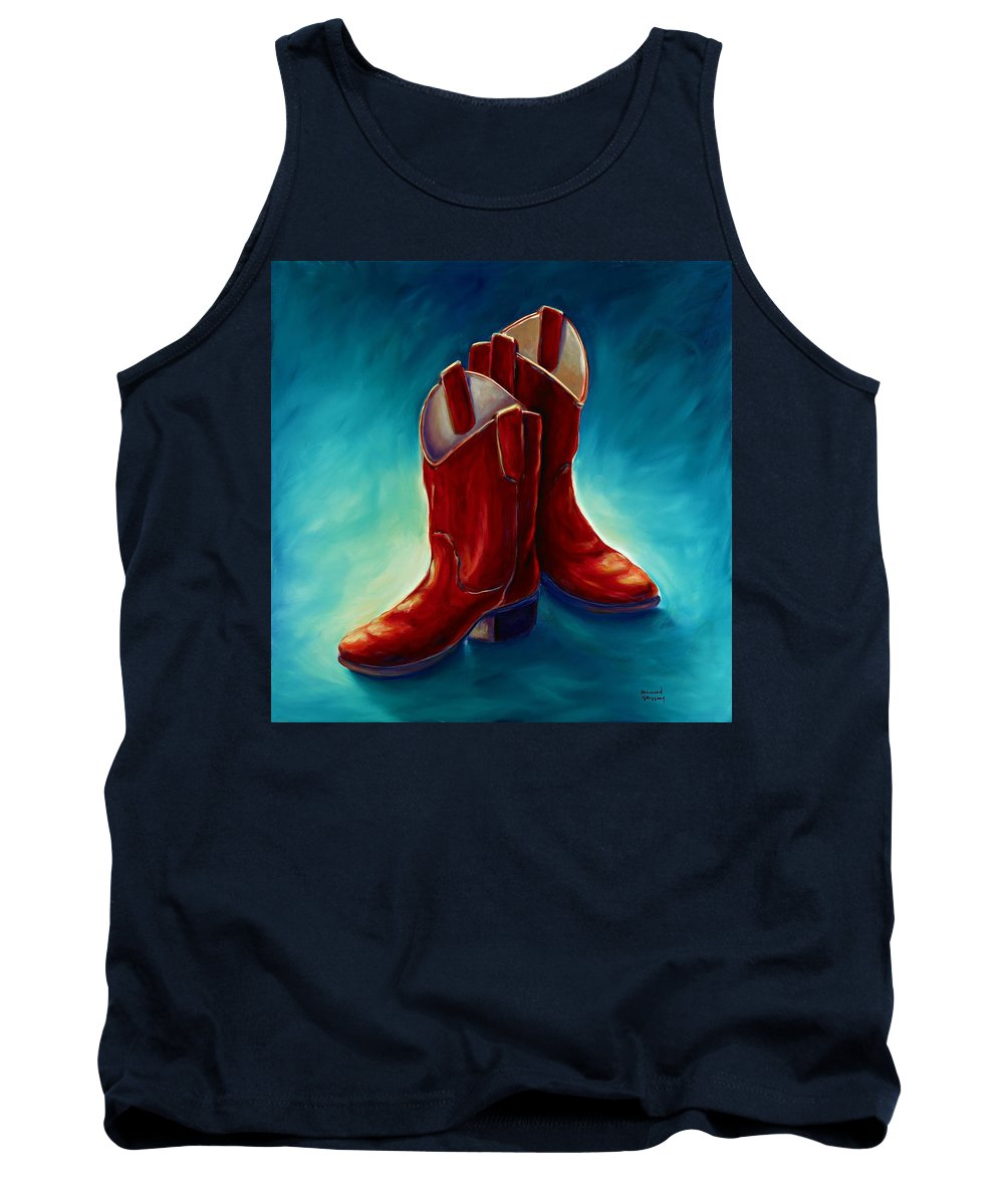 Boots Tank Top featuring the painting Boots by Shannon Grissom