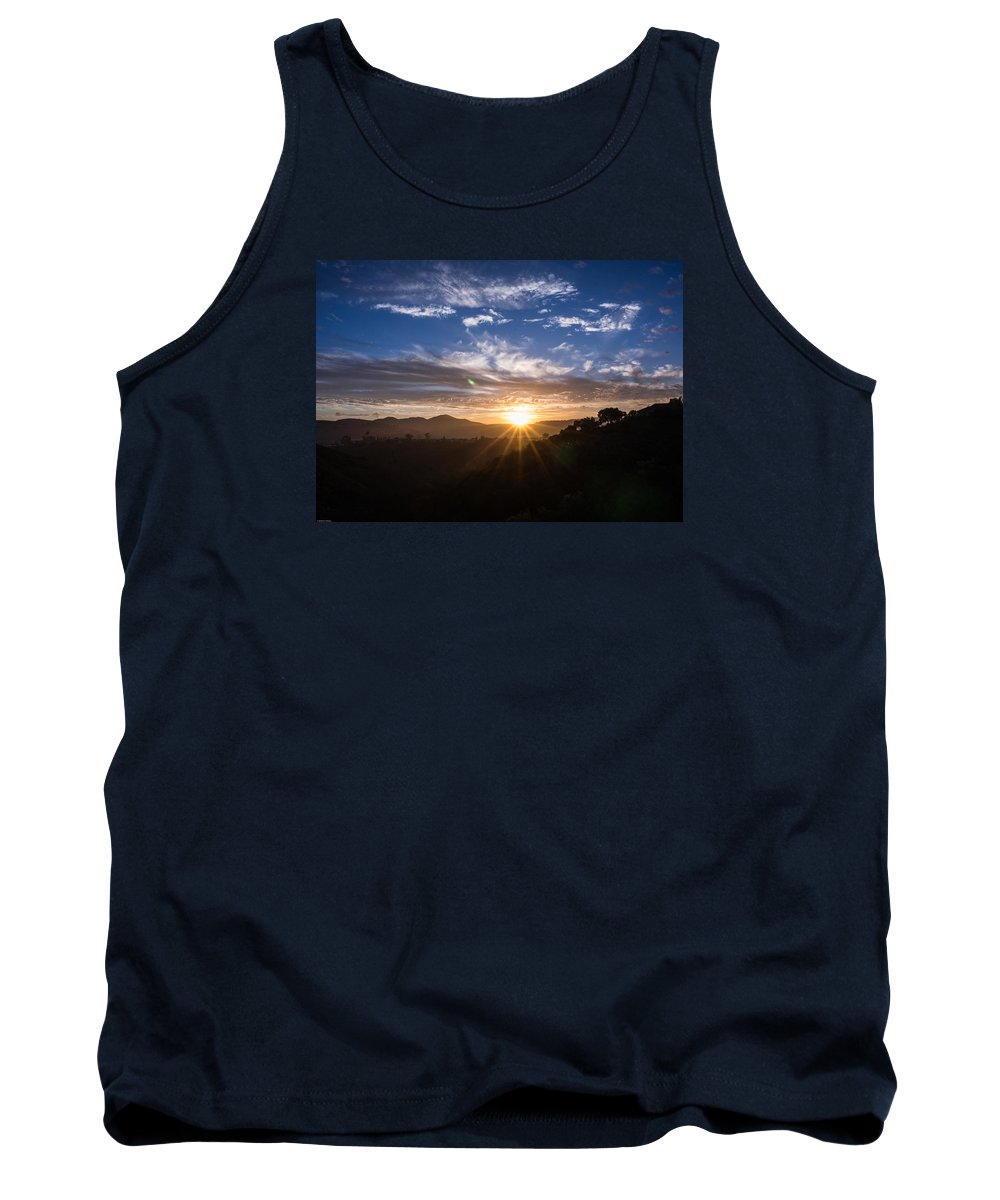 Sunrise Tank Top featuring the photograph Brand New Day by Jeremy McKay