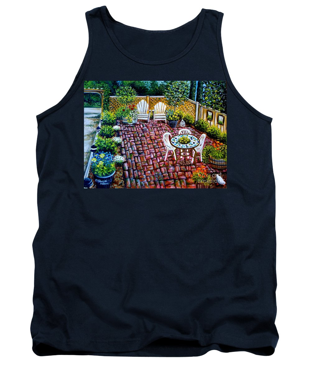 Landscape Tank Top featuring the painting Brickwork by Elizabeth Robinette Tyndall