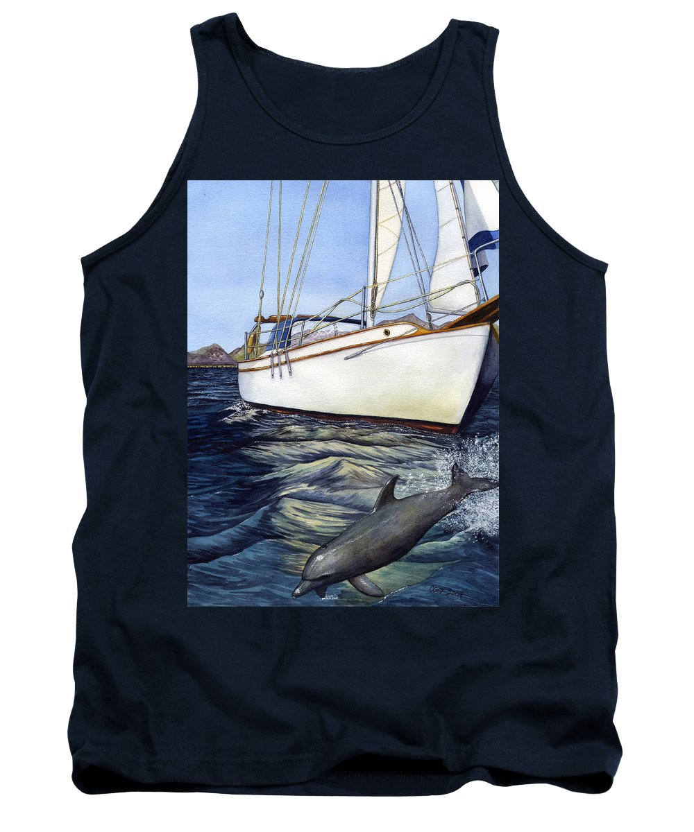 Sailing Tank Top featuring the painting Brief Encounter by Catherine G McElroy