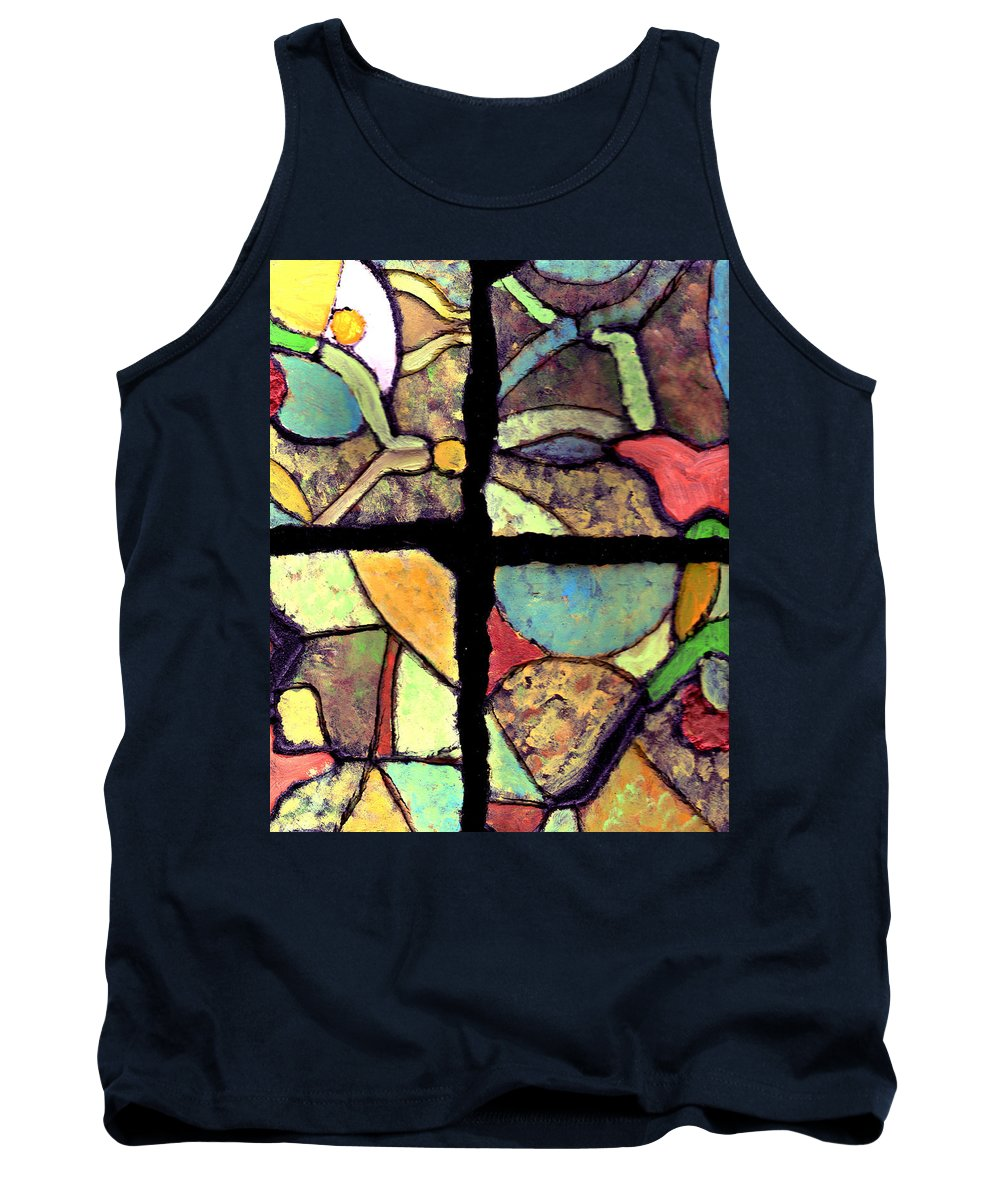 Tiles Tank Top featuring the painting Broken Dreams by Wayne Potrafka