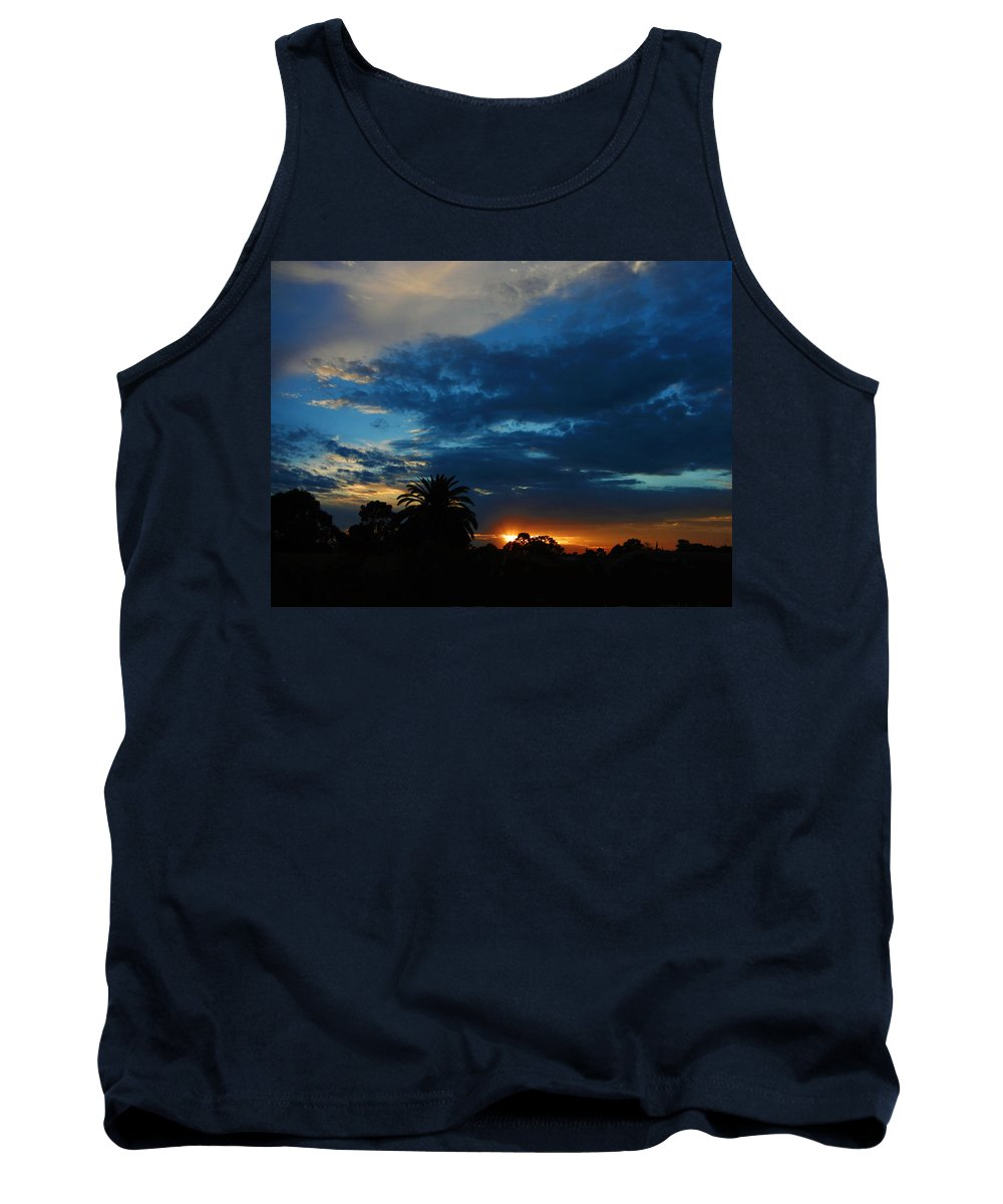 Sunset Tank Top featuring the photograph Brooding by Mark Blauhoefer