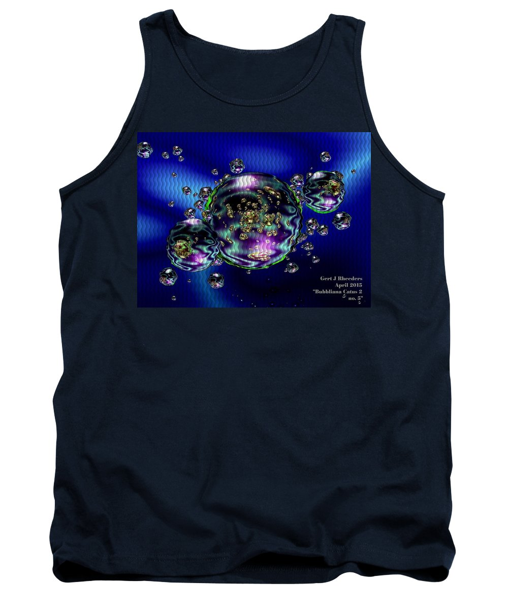 Announcement Tank Top featuring the painting Bubbliana Catus 2 No. 5 H A by Gert J Rheeders