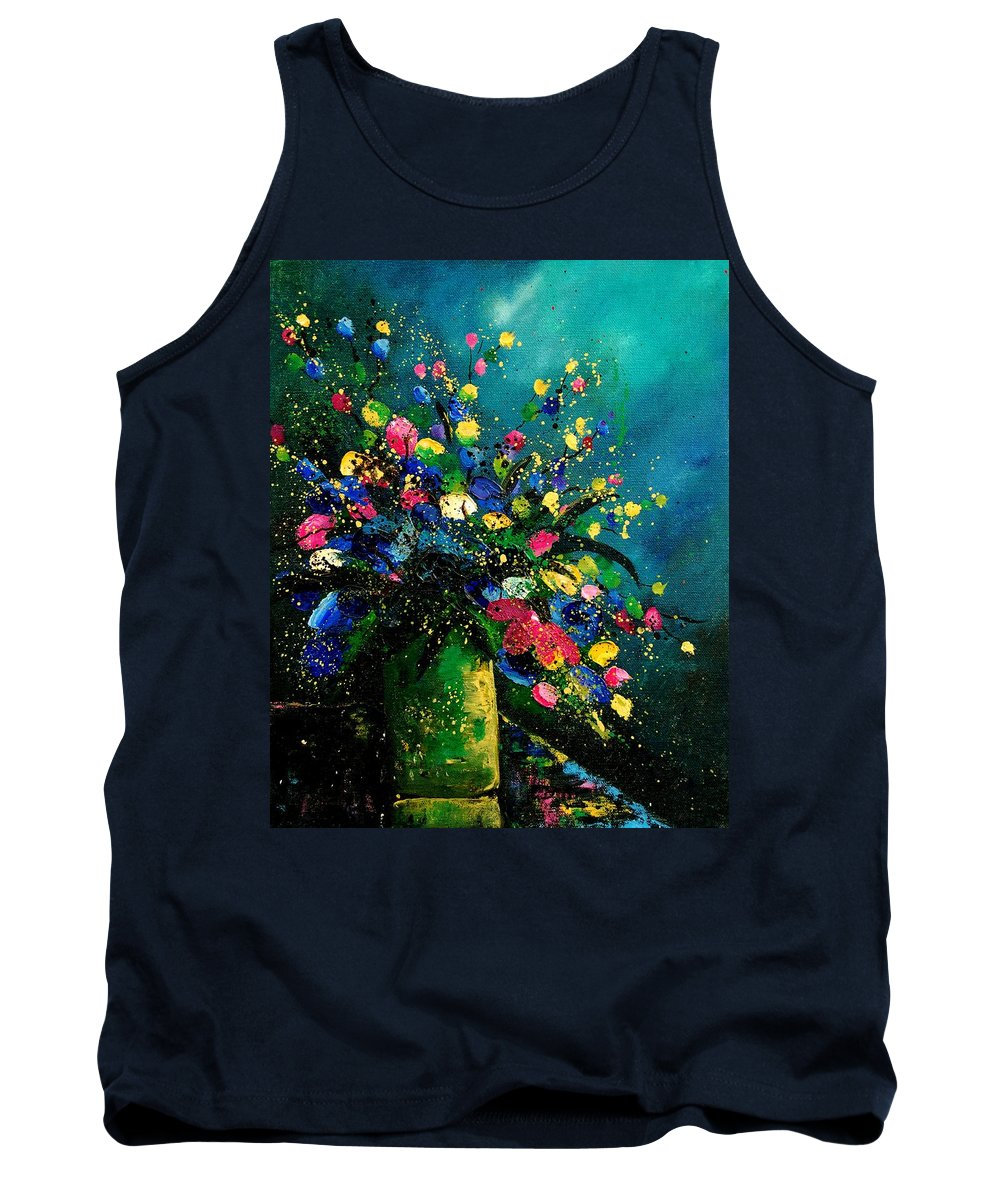 Flowers Tank Top featuring the painting Bunch 0807 by Pol Ledent