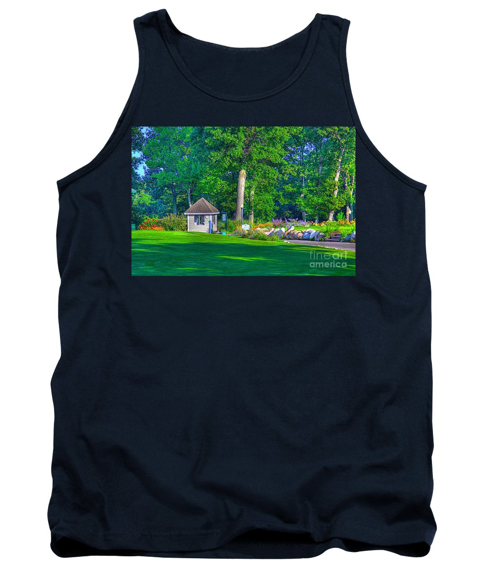 Golf Tank Top featuring the photograph Caddy Shack by Robert Pearson