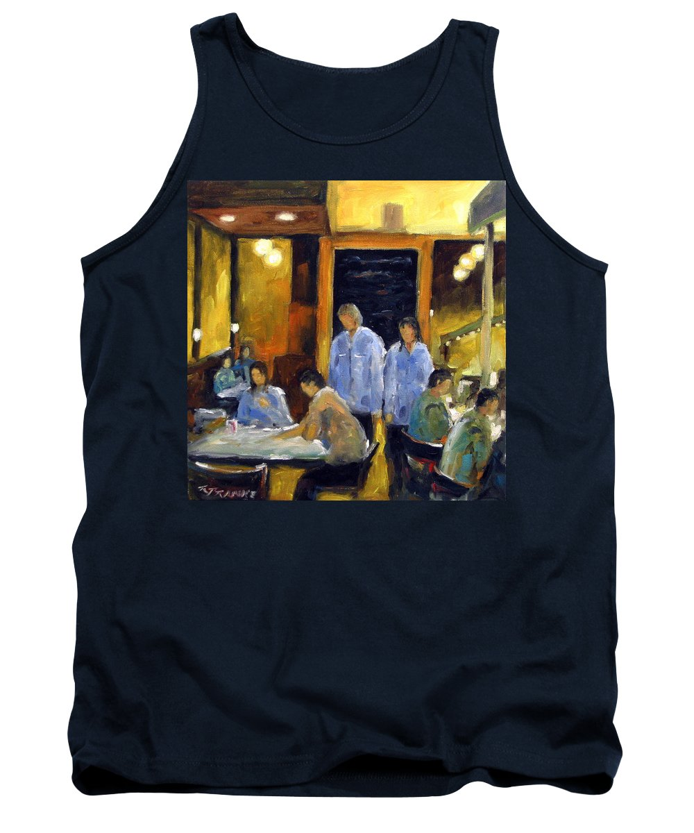Urban Tank Top featuring the painting Cafe Des Artistes by Richard T Pranke