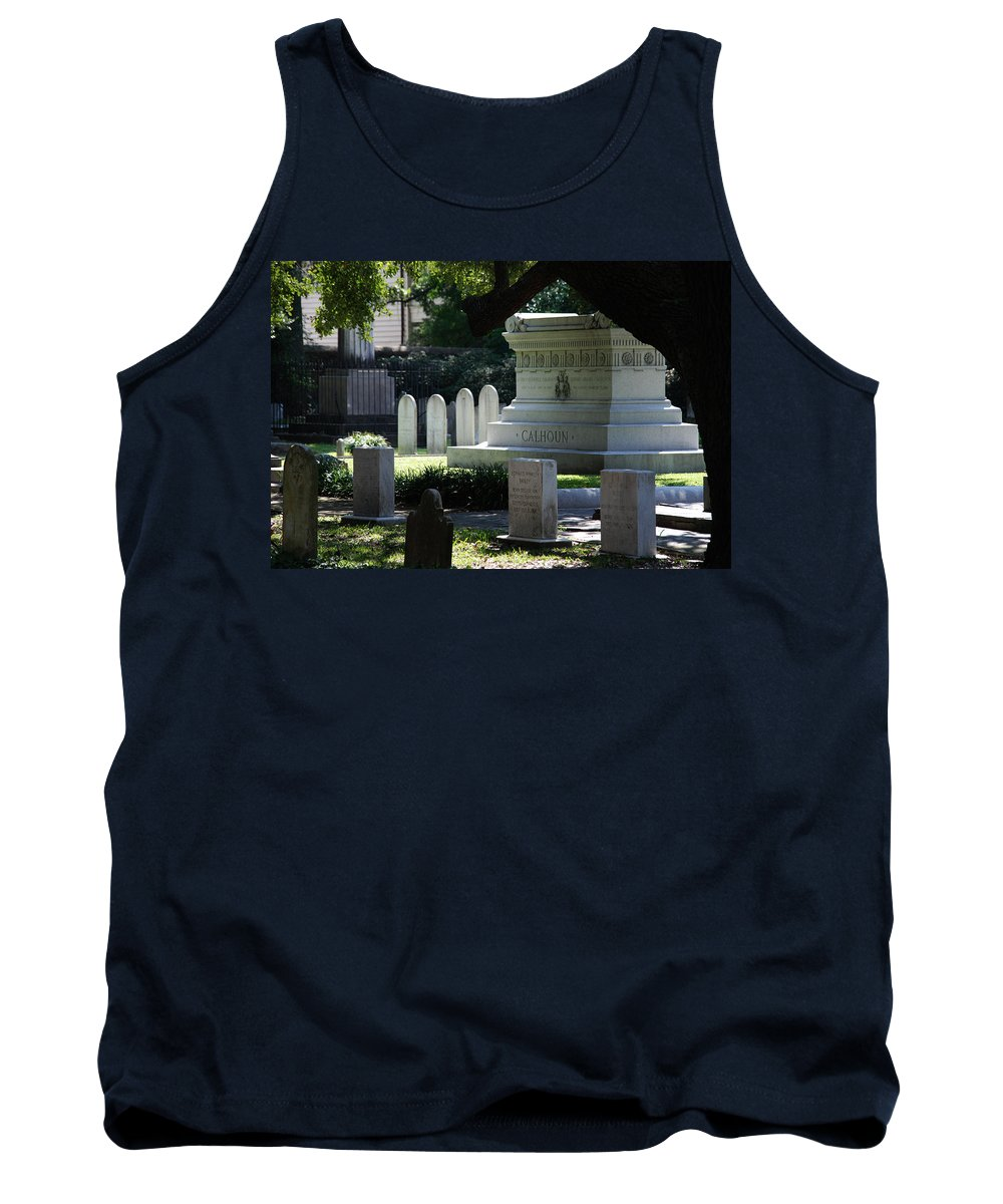 Photography Tank Top featuring the photograph Calhoun Is A Big Name In Charleston by Susanne Van Hulst
