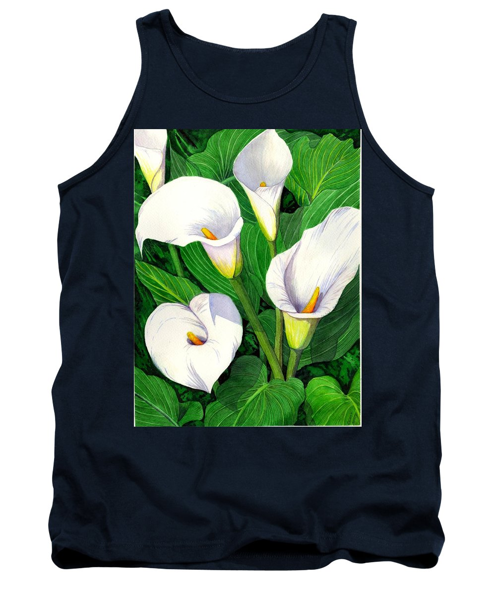 Lily Tank Top featuring the painting Calla Lilies by Catherine G McElroy