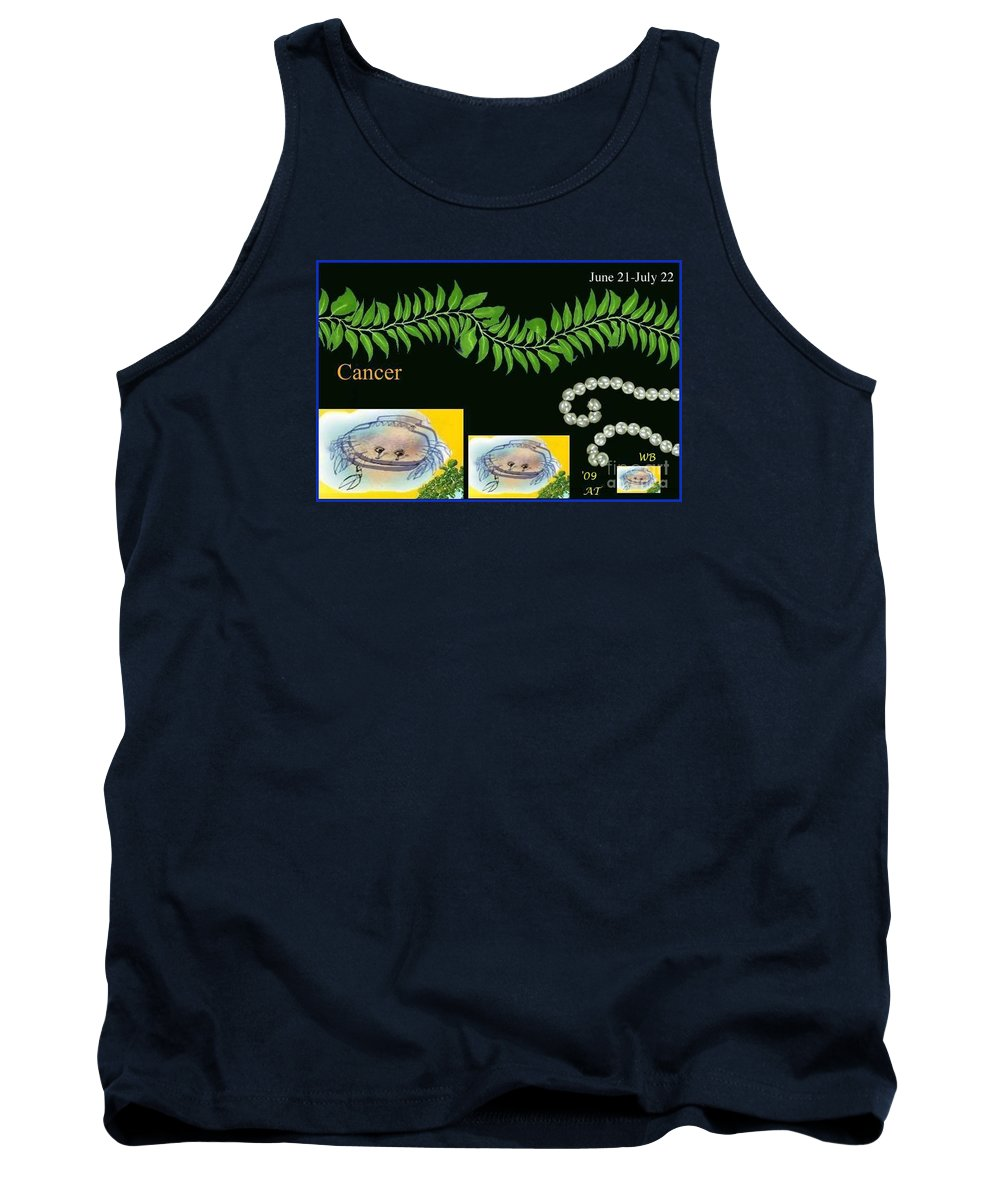 Cancer Tank Top featuring the digital art Cancer With William Baumol by The Art of Alice Terrill