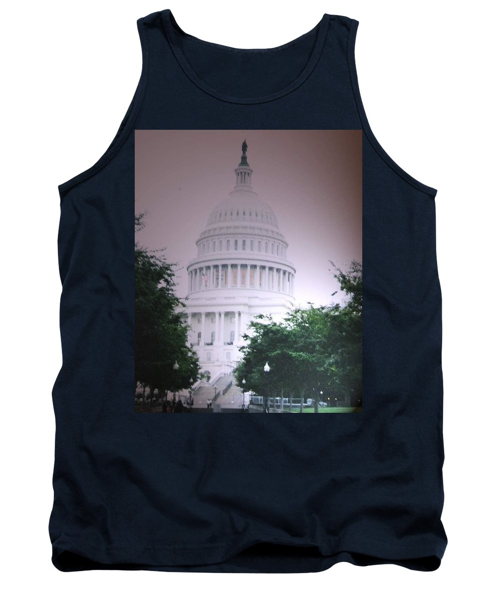 Capitol Tank Top featuring the photograph Capitol in Pink by Pharris Art