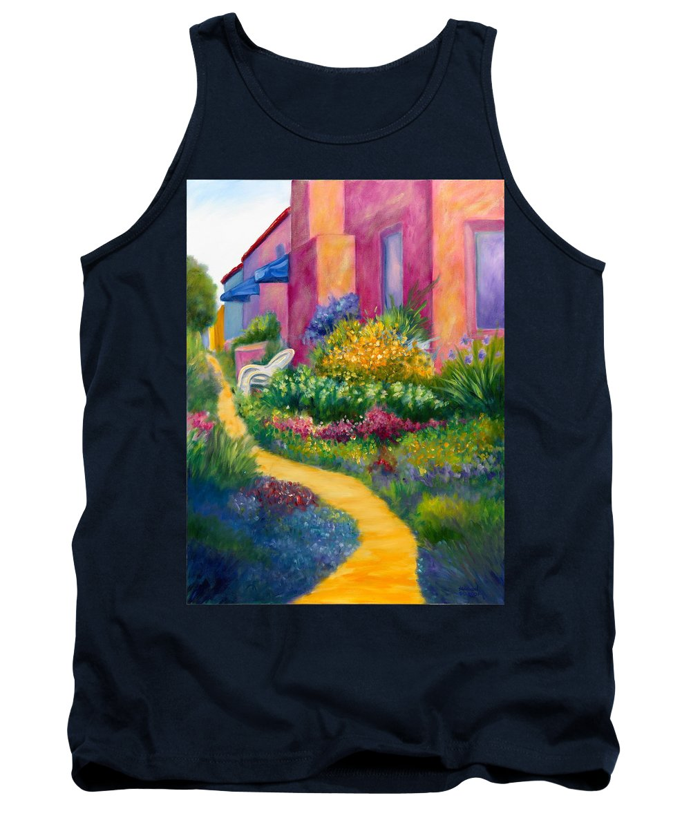 Landscape Tank Top featuring the painting Capitola Dreaming Too by Shannon Grissom