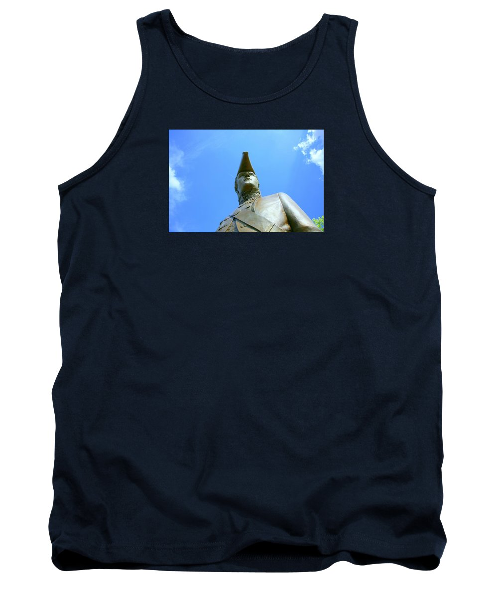 Statue Tank Top featuring the photograph Captain Clark by J R Seymour