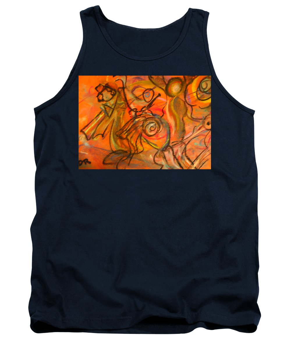 Carnival Tank Top featuring the painting Carnival by Dawn Richerson