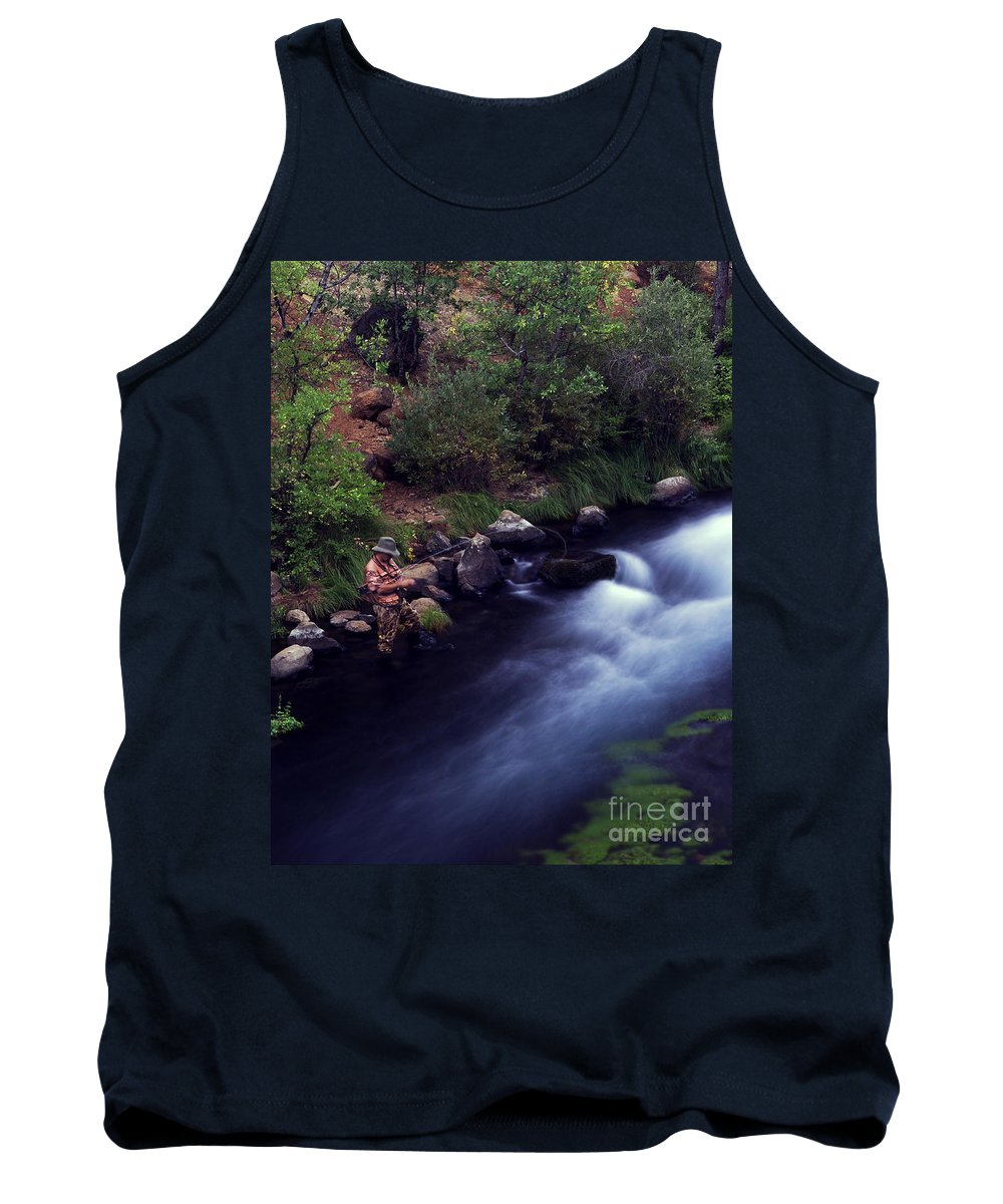 Fishing Tank Top featuring the photograph Casting Softly by Peter Piatt