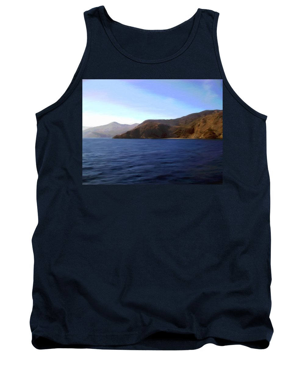 Catalina Tank Top featuring the photograph Catalina Shoreline by Snake Jagger