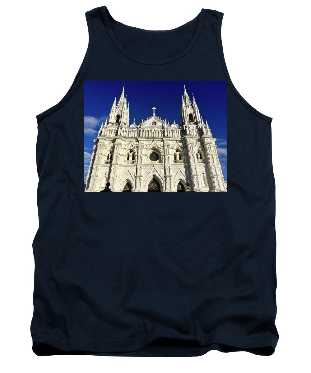 Cathedral Tank Top featuring the photograph Cathedral In El Salvador by Will Fox