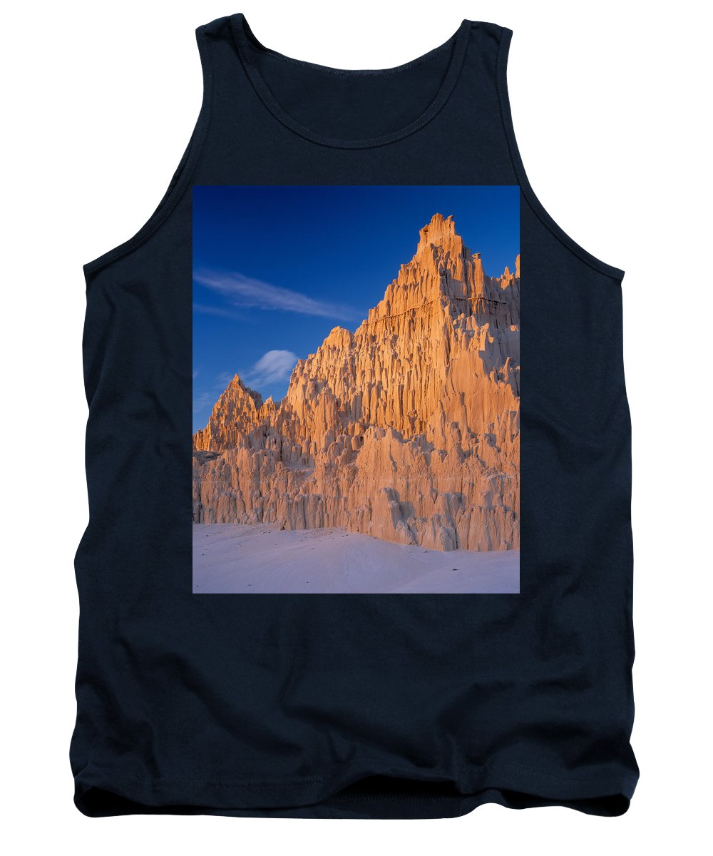 Cathedral Gorge Tank Top featuring the photograph Cathedral Mounds by Leland D Howard