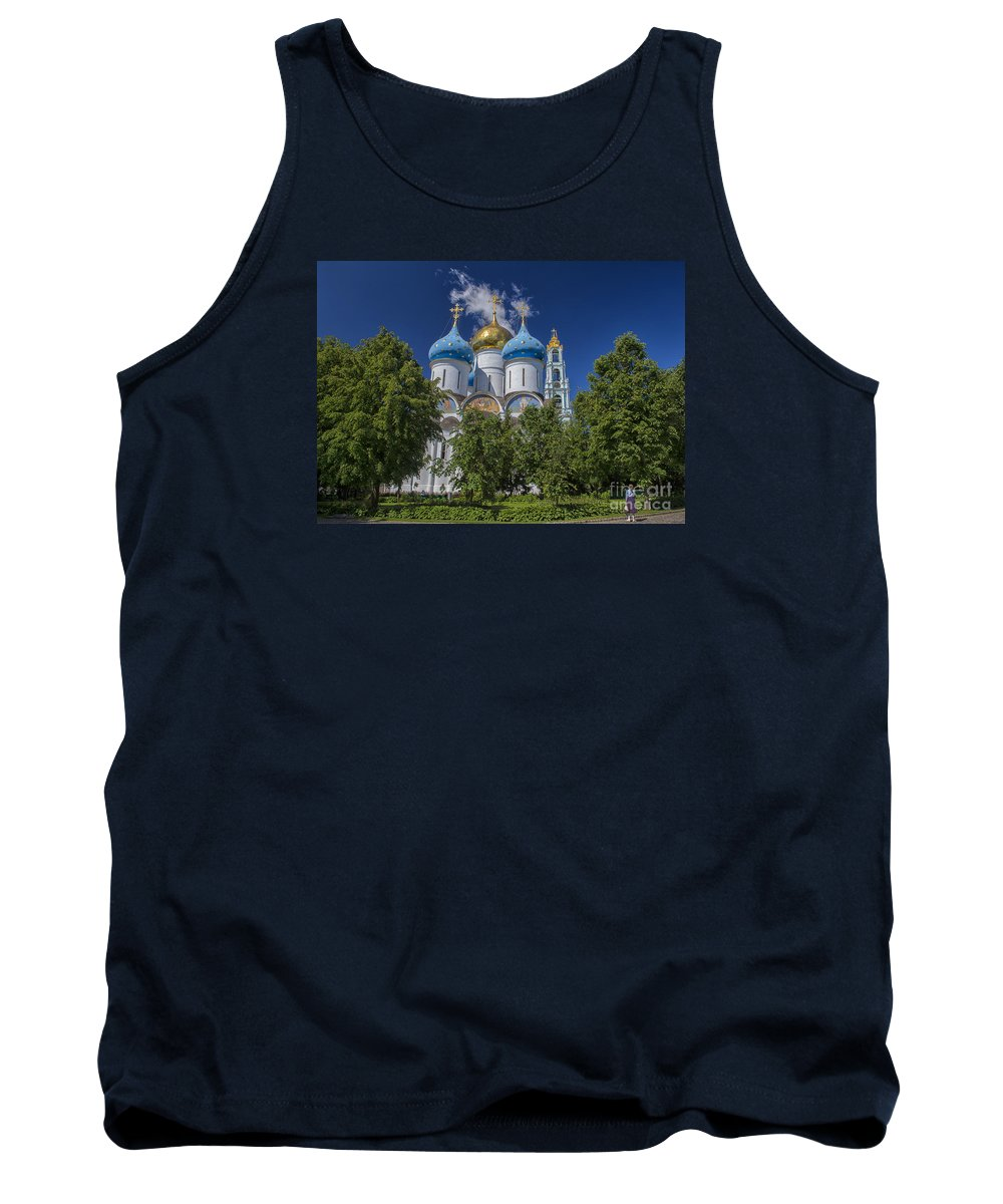 Trinity Lavra Of St. Sergius Tank Top featuring the photograph Cathedral Of The Assumption At Trinity Lavra Of St. Sergius In Sergiyev Posad, Russia by Ivan Batinic