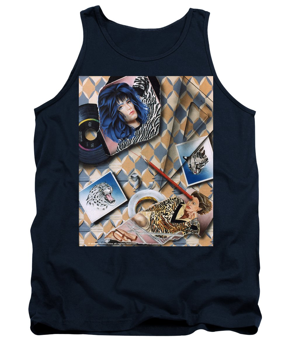 Cats Tank Top featuring the painting Cats by Shaun McNicholas