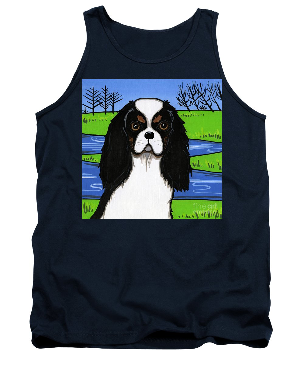 Cavs Tank Top featuring the painting Cavalier King Charles Spaniel by Leanne Wilkes