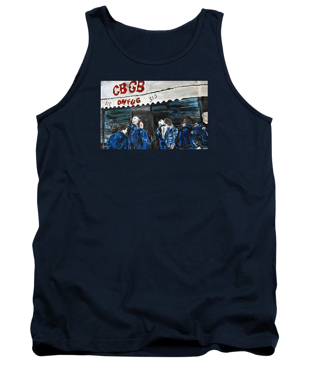 New York City Paintings Tank Top featuring the painting Cbgb's by Wayne Pearce
