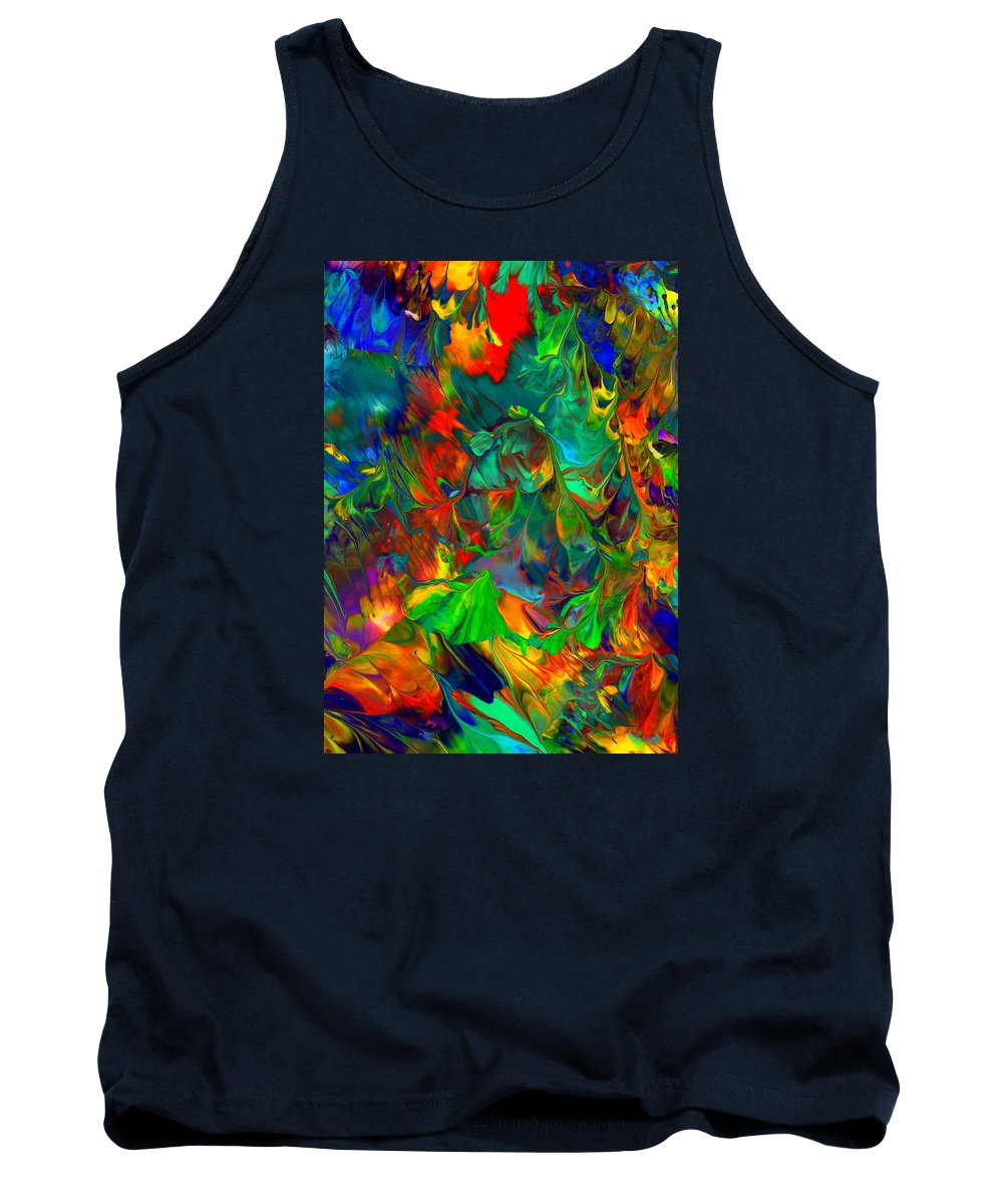 Abstract Art Print Tank Top featuring the painting Cc192 by John Kohn
