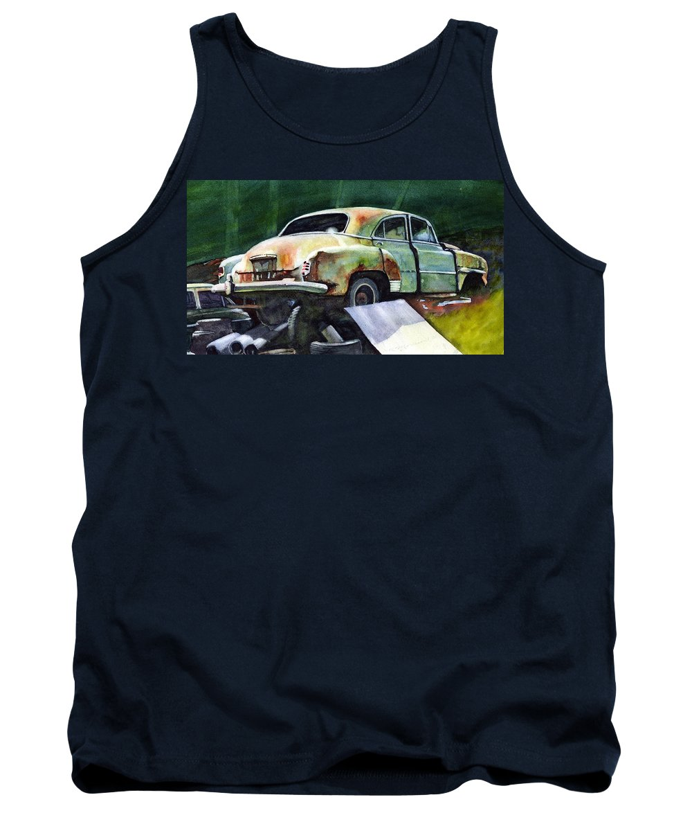 Chev Tank Top featuring the painting Chev At Rest by Ron Morrison