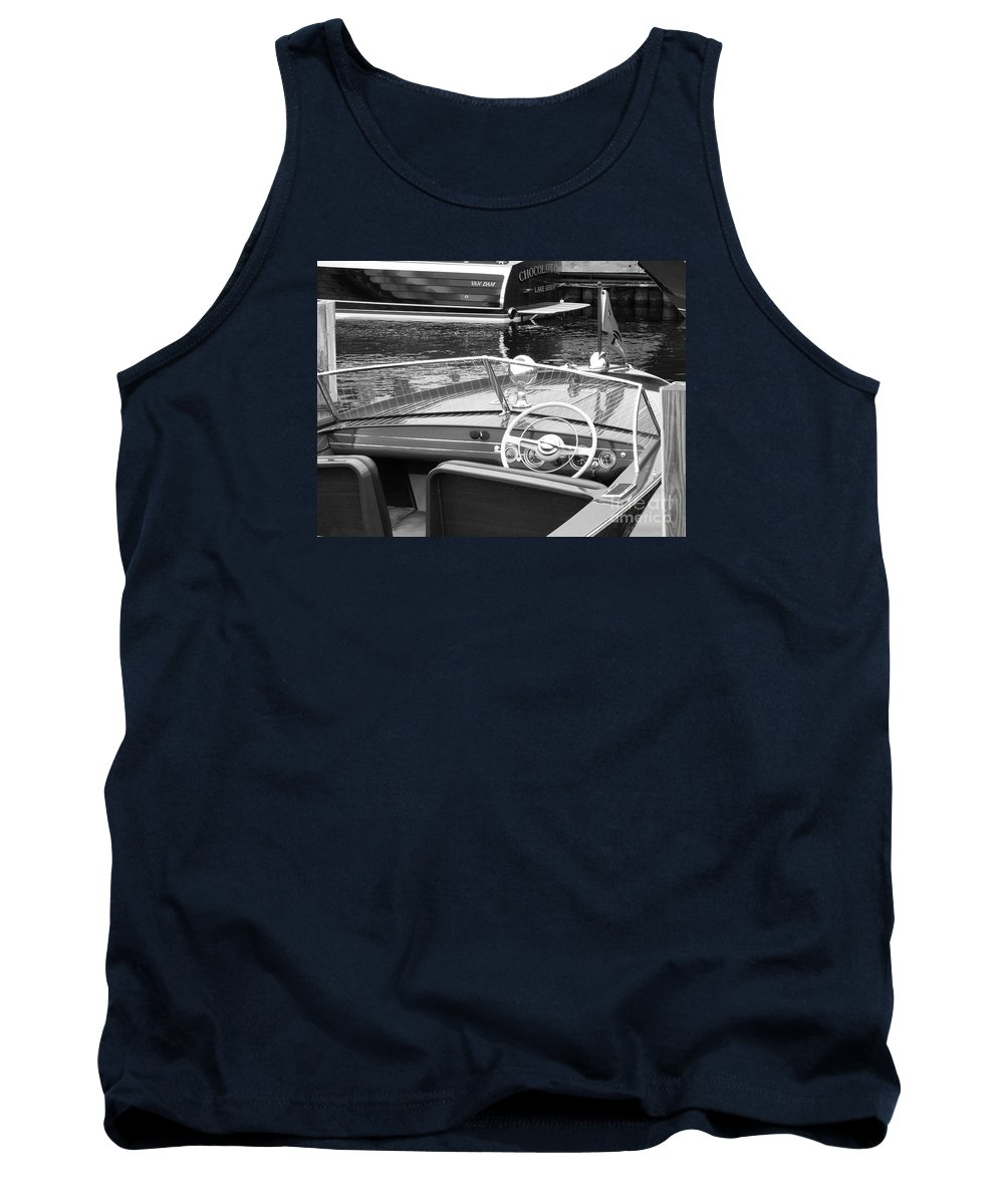 Chris Craft Tank Top featuring the photograph Chris Craft Utility by Neil Zimmerman