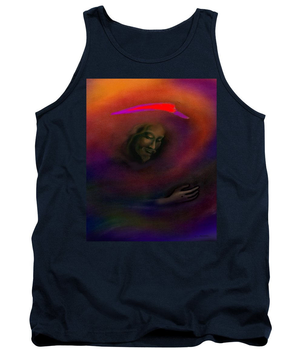 Jesus Tank Top featuring the painting Christ by Kevin Middleton