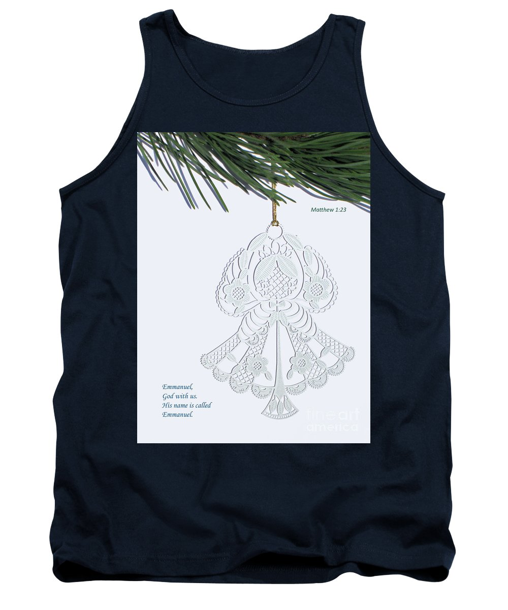 Christmas Tank Top featuring the photograph Christmas Angel by Ann Horn