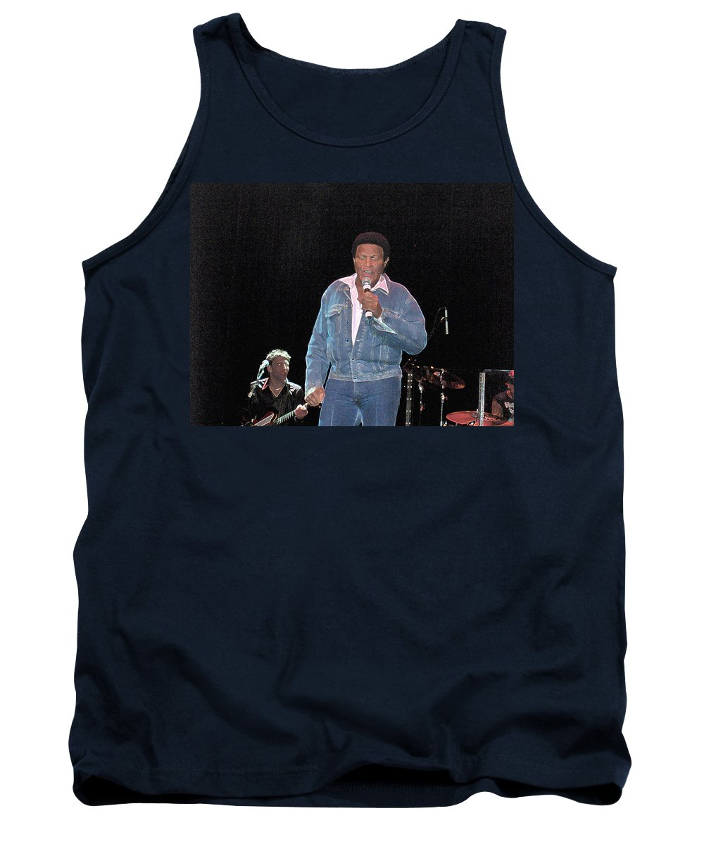 Chubby Checker Singer Bands Music Blues Dance Star Concert Tank Top featuring the photograph Chubby Checker by Andrea Lawrence