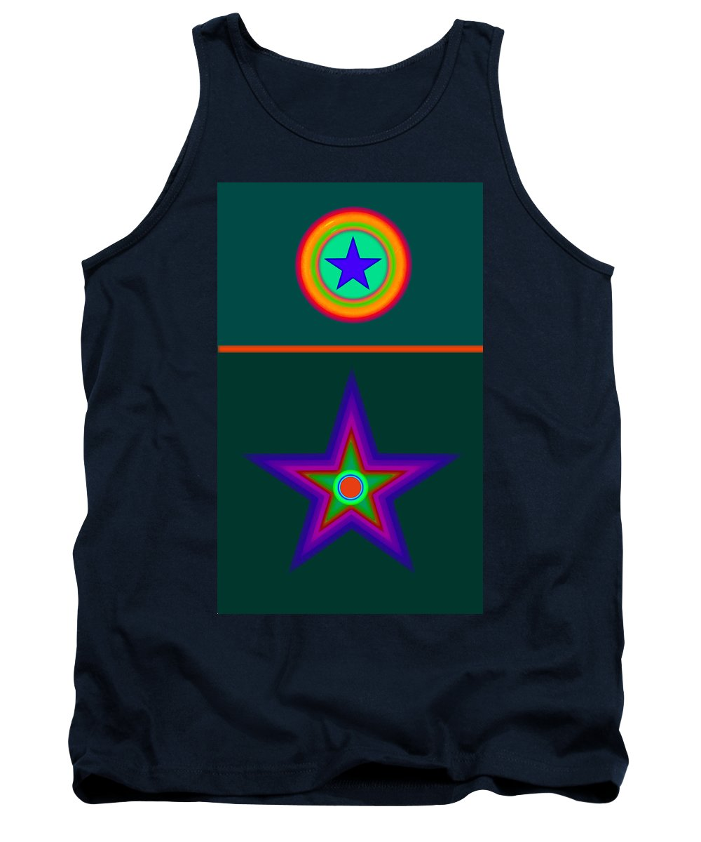 Circus Tank Top featuring the digital art Circus Vert by Charles Stuart
