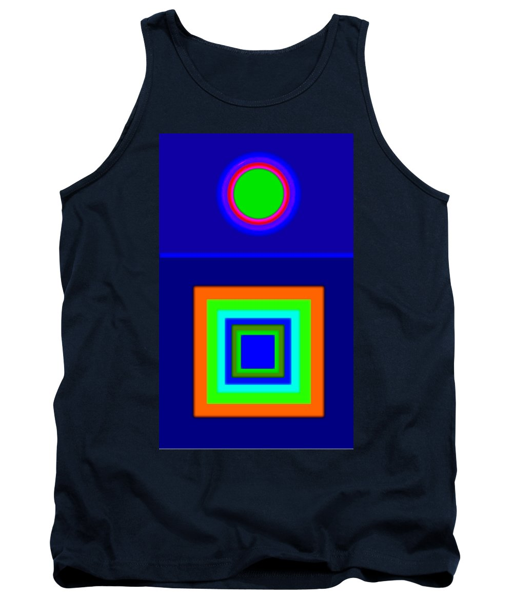 Classical Tank Top featuring the painting Classical Blue by Charles Stuart