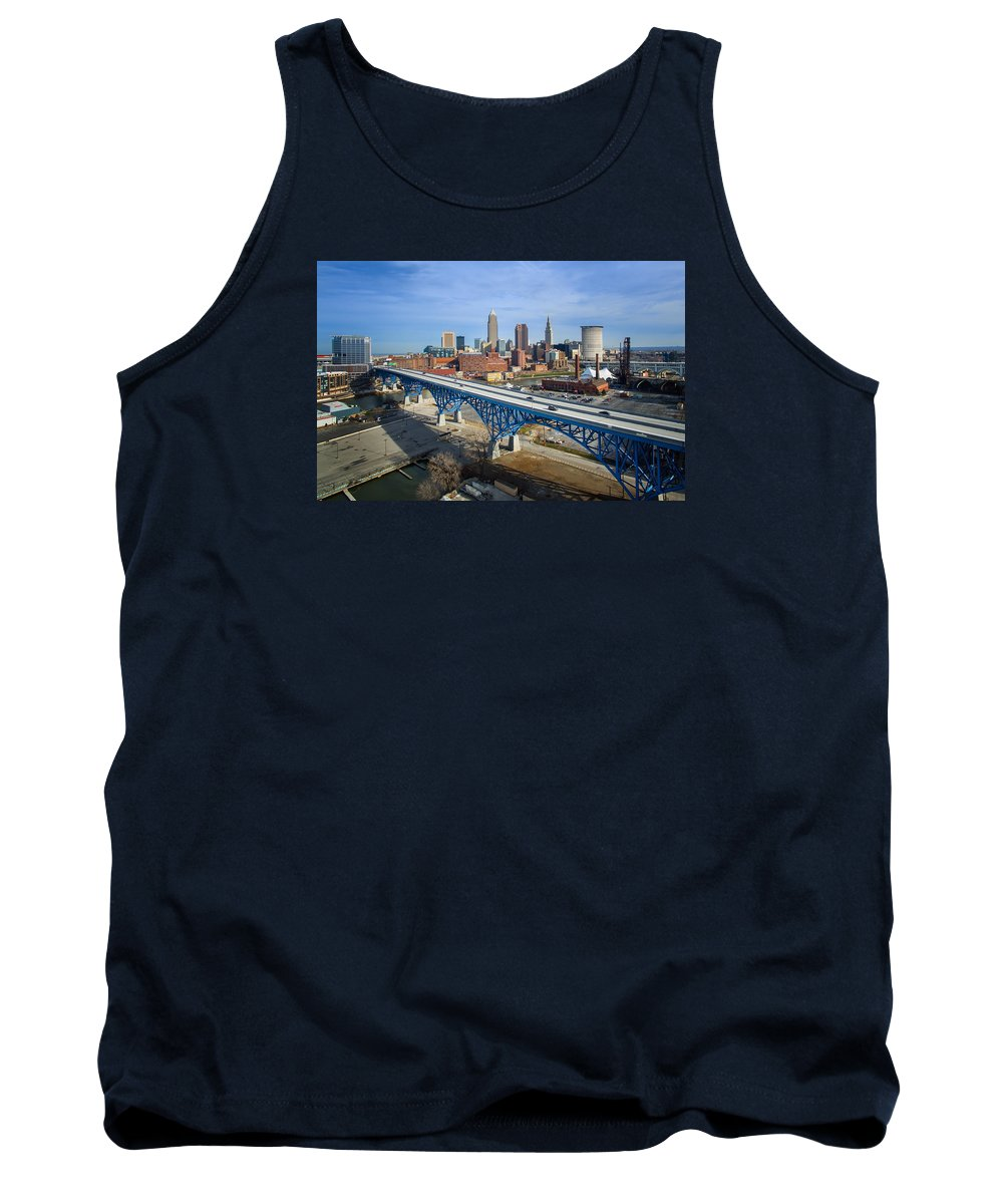 Cleveland Tank Top featuring the photograph Cleveland Skyline #1 by Bill Berris