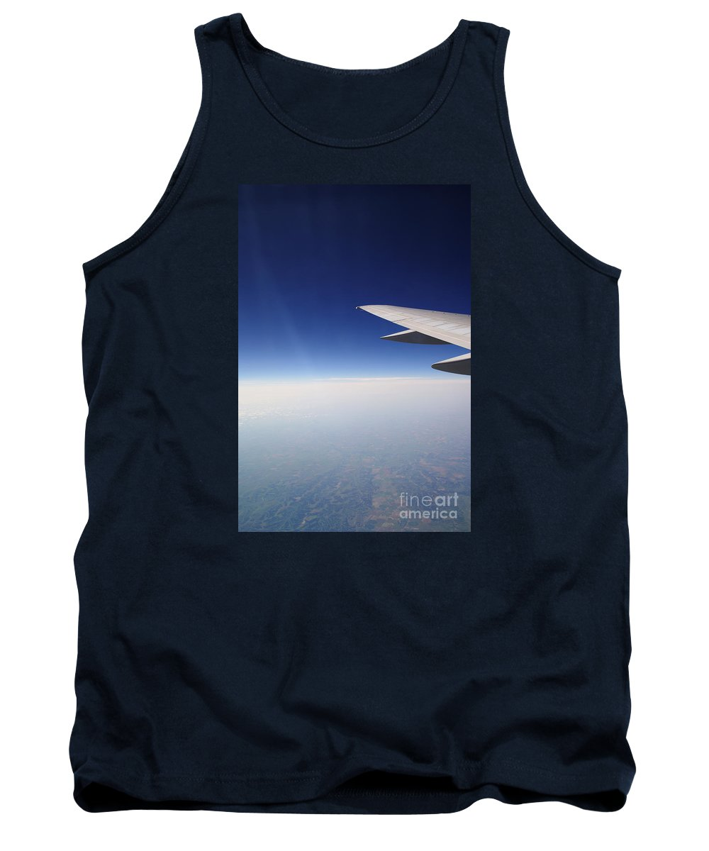 Airplane Tank Top featuring the photograph Climb Higher by Linda Shafer