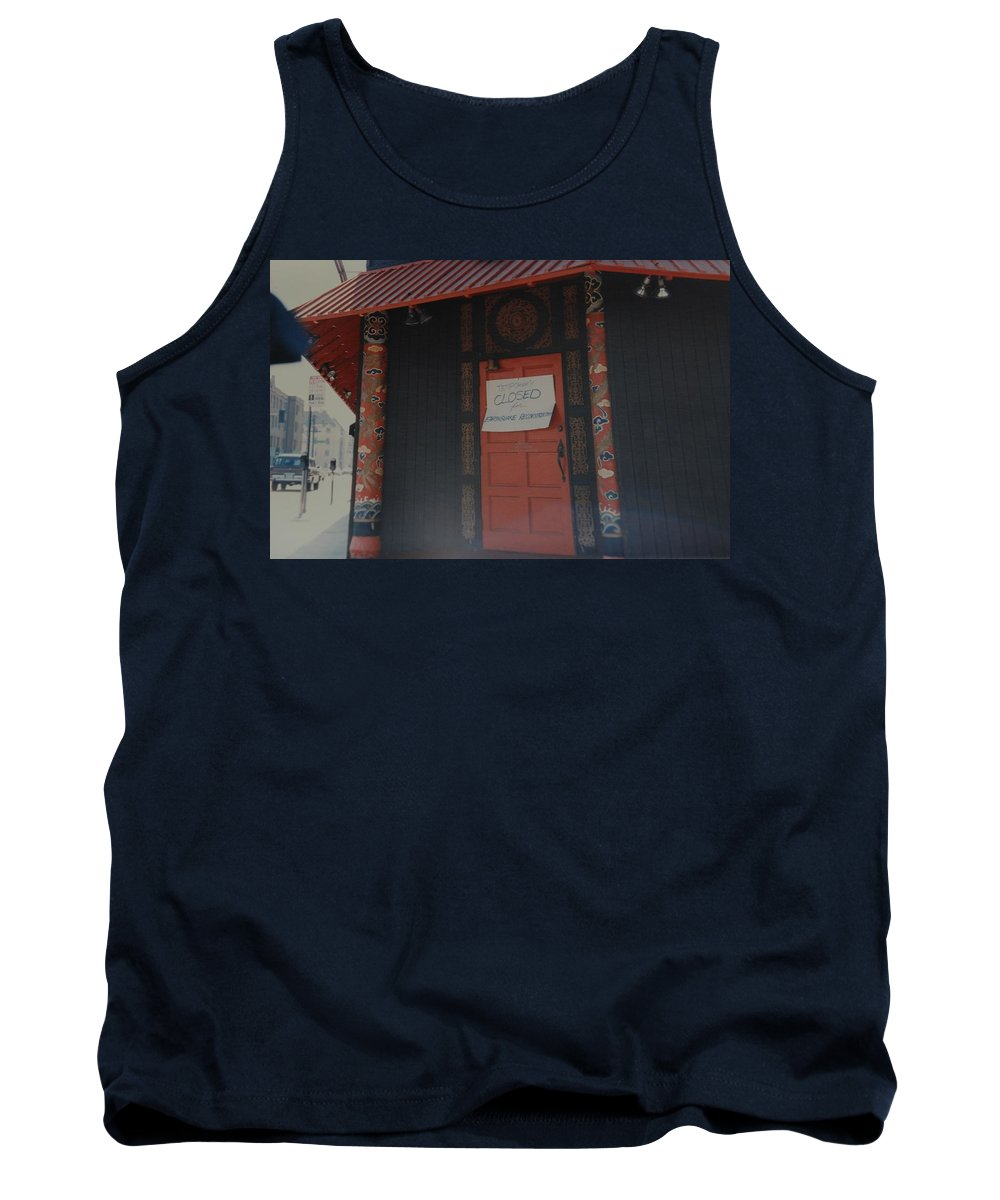 Art Tank Top featuring the photograph Closed For Earthquake by Rob Hans
