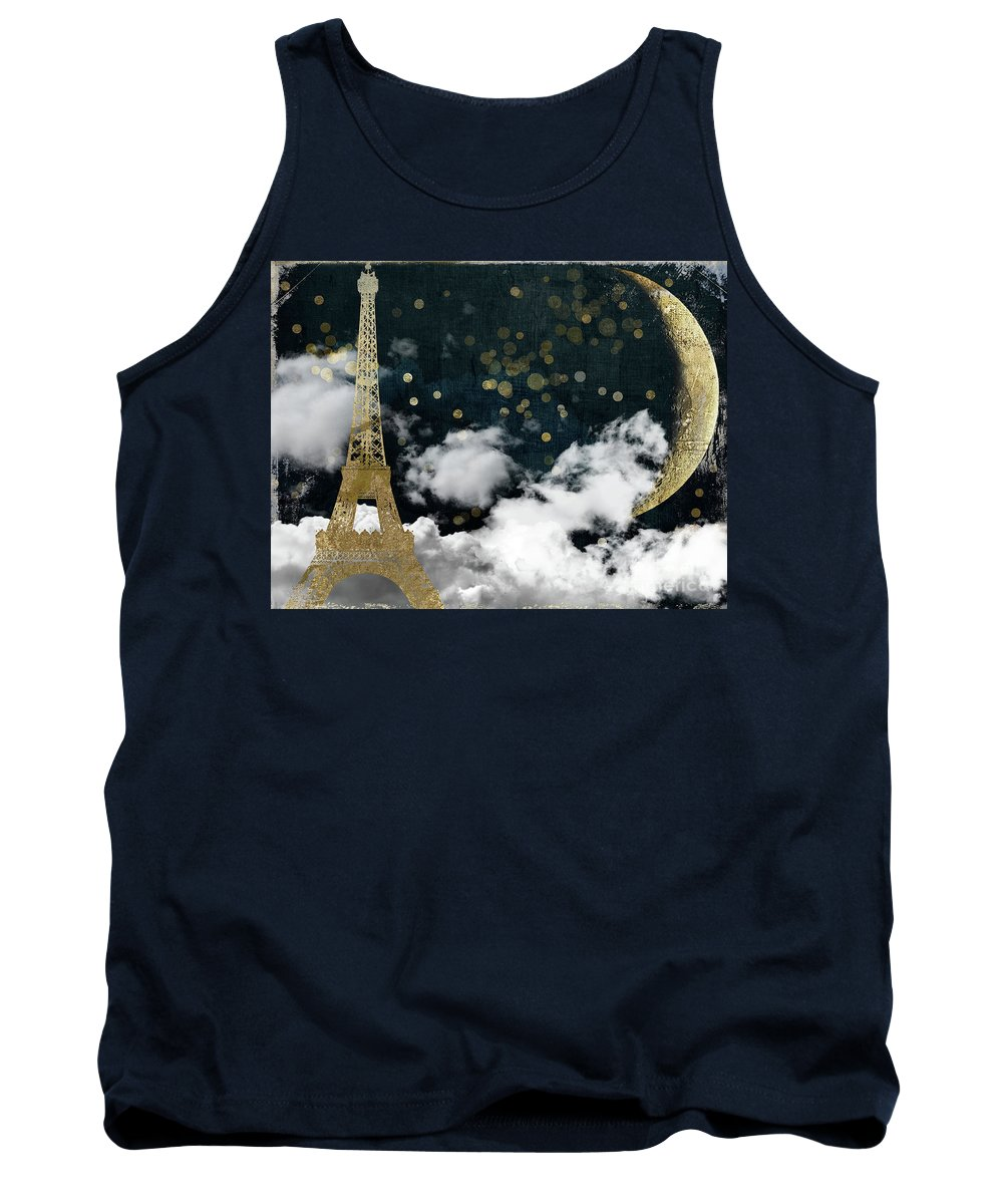 Paris Tank Top featuring the painting Cloud Cities Paris by Mindy Sommers