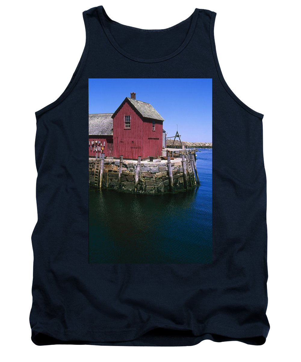 Landscape New England Rockport Motif Number 1 Tank Top featuring the photograph Cnrf0506 by Henry Butz