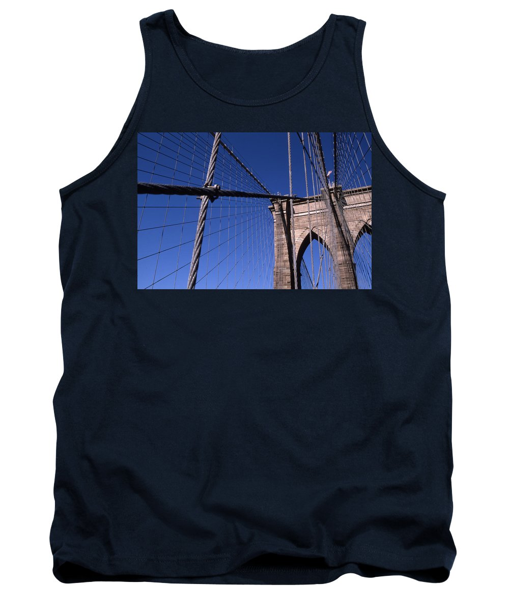 Landscape Brooklyn Bridge New York City Tank Top featuring the photograph Cnrg0405 by Henry Butz
