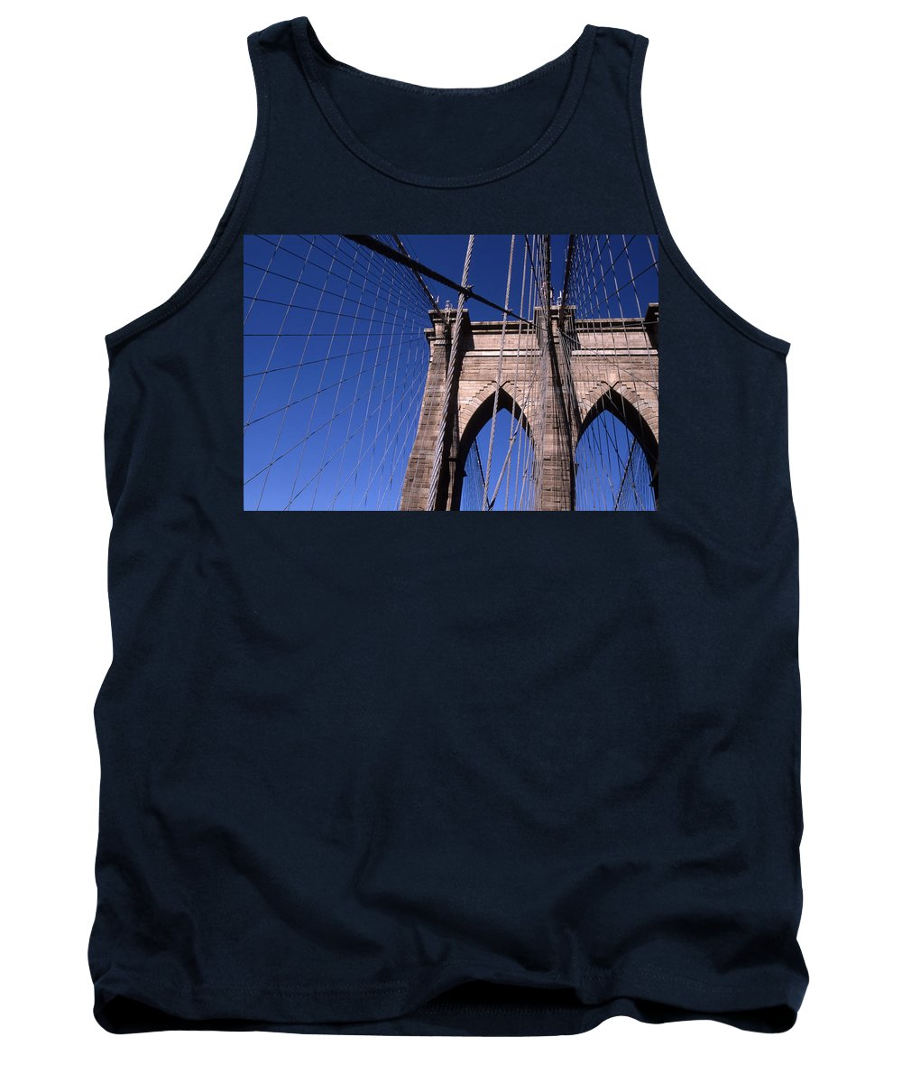 Landscape Brooklyn Bridge New York City Tank Top featuring the photograph Cnrg0406 by Henry Butz